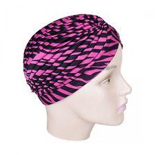 Womans Turban Pleated Head Wrap Hot Pink Zebra Print Soft Cap