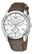 Tissot Men's T-Trend Couturier Chronograph Leather Strap Watch T0356171603100