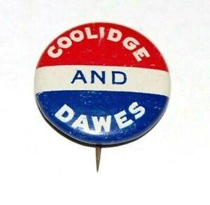 1924 CALVIN COOLIDGE DAWES campaign pin pinback political button presidential