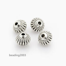 20pcs Tibetan Style Lantern Jewellery Beads DIY Craft Antique Silver 8x6.5mm