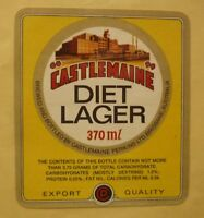 OLD AUSTRALIAN BEER LABEL, CASTLEMAINE BREWERY BRISBANE, DIET LAGER 370ml