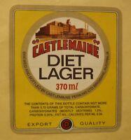 OLD AUSTRALIAN BEER LABEL, CASTLEMAINE BREWERY BRISBANE, DIET LAGER 370ml