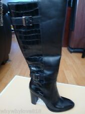 NIB NEW WOMEN MICHAEL KORS CIDNEY KNEE HIGH FASHION BOOTS BLACK SIZE 6