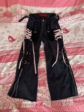 TRIPP NYC MALL GOTH PINK LACE UP CORSET PANTS SIZE 1