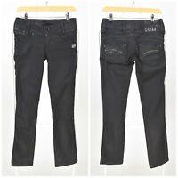 Womens G-Star Berlin Straight Stretch Jeans Blue Skinny Low Rise Size W24 L30