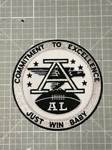 """OAKLAND RAIDERS JERSEY PATCH AFL """"AL"""" COMMITMENT TO EXCELLENCE,JUST WIN BABY#1🔥"""
