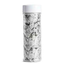 1 Jar Edible Gold Silver Foil Paper Flakes Cake Toppers Safe F. Cake Drink Decor