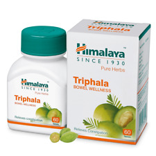 Himalaya Pure Herbs Triphala Digestive Support Relieves Constipation 60 tablets