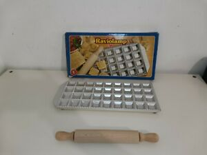 IMPERIA Raviolamp 36 Ravioli Tray / Mould Classici With Box Tray Rolling Pin