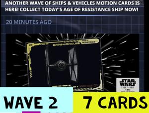 topps star wars card trader SHIPS AND VEHICLES WAVE 2.    7 CARD PRESALE SET