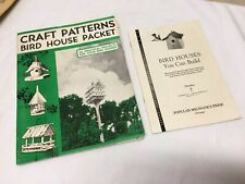 Vintage 1940s BirdHouse Building Construction Plans Patterns Lg Lot Neeley Hall