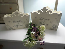 SHABBY CHIC STORAGE DECORATIVE WOODEN BOXES PERFUMES & COSMETICS, BEDROOOM