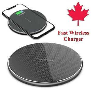 Qi Wireless Charger Pad 10W Fast Charging For iPhone 11 12 XR 8 S20 FE S10 S9 S8
