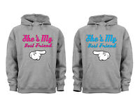 Couples Matching Hoodies She's my best friend Matching Couple Grey Unisex S-6X