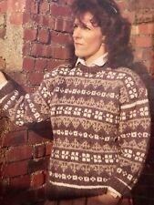 Cu13 Knitting Pattern - Icelandic Style Jumper Men's Lady's Unisex