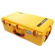 Yellow & Red Pelican 1615 Air case No Foam.  With wheels.