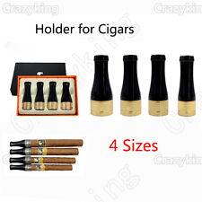 COHIBA 4 Size Golden Pure Copper Resin Travel Cigar Nozzle Tip Holder Gift Box