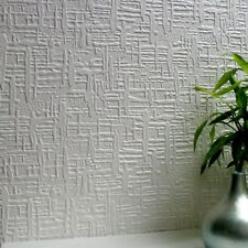 Wallpaper Textured Paintable  Vinyl Luxury Embossed Durable Edward Anaglypta