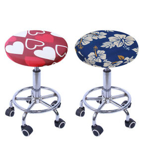 Stretch Round Bar Stool Cover Chair Cushion Seat Pad Sleeve Office Home Decor