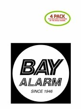 Bay Alarm Sticker Vinyl Decal 4 Pack