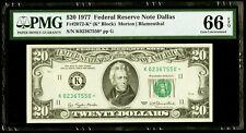 $20 1977 Federal Reserve * Star Note Dallas * PMG 66 EPQ Gem Uncirculated