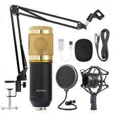 BM-800 bluetooth Condenser Microphone Kit Studio Filter Boom Scissor Arm Stand