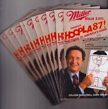 10 SAME Miller High Life Beer 1986-87 College Basketball Media Guides Al McGuire