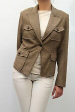 GIACCA CLIPS MORE DONNA JACKET, N622 2666SS MARRONE MIS. XXL (48) AA 06 nva