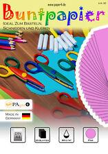 Buntpapier Bastelpapier DIN A4 25 Blatt 80 g/m²  Pink #1102