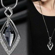 Long Chain Women Pendant Necklace Crystal Gift Fashion Statement Diamond Jewelry