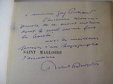 Roland DORGELES : SAINT MAGLOIRE Exemplaire sur Japon avec envoi 1922