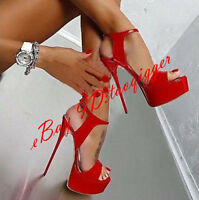 Sexy Womens Nightclub Super High Heels Shoes Platform Slim Heel Party Shoes Sz