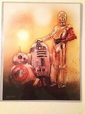 Star Wars Force Print Awakens BB-8 R2-D2 C-3PO Shipper NYCC 2015 hero complex