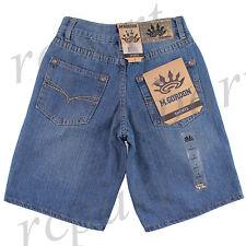 New M Gordon Boy's Denim Blue Jeans Shorts Summer Casual Size 8 to 14