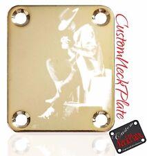 Gold SRV Engraved Guitar Neck Plate fits Fender tele/strat/s