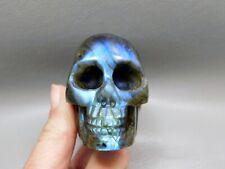 Labradorite Skull Carving Crystal Hand Carved Gemstone #2