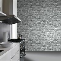grau stein wand Tapete - Rasch 265620 - Neue Motivwand Ziegel