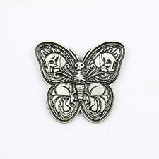 Biker Chopper Motorrad Butterfly Wings Totenkopf Pin Anstecker Anstecknadel NEU
