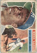 1956 Topps 31 Hank Aaron White Back POOR #D295093