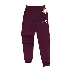 Champion Women's Burgundy Reverse Weave Sweatpants Size XS NWT