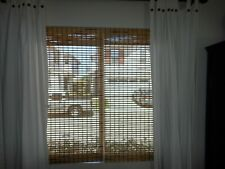 ARLO Blinds 30 x 70 Rustique Corded Bamboo Roman Shade Light Filtering Exc.Cond