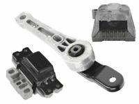 VW 2.0 2006-2012 Engine +A/T Mounts 3pcs Auto Transmission Motor Support Bracket
