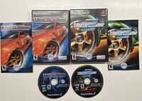 Playstation 2 Need For Speed Underground 1 & 2 Black Label Lot COMPLETE!! PS2