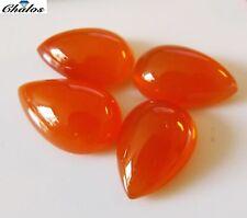 1x Karneol - Orangerot Tropfen, pear Cabochon  9,5x14,5mm (2084)