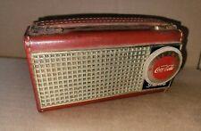 SCARCE RARE 1950'S BULOVA TRANSISTOR COCA COLA RADIO, NOT WORKING