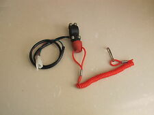 Tether Line Kill Single Switch 12v Motorcycle ATV On-Off Button Handlebar Mount