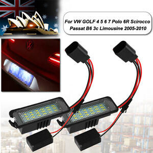 LED Licence Number Plate Lights Canbus For VW Passat CC Polo GTI Golf MK4/5/6
