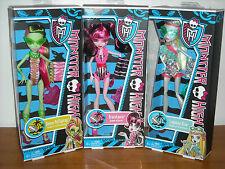 "New Monster High Dolls VENUS McFLYTRAP-DRACULAURA-LAGOONA BLUE ""Fun In The Sun"""