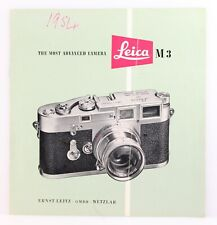 Leica M3 Sales Brochure. Includes Price List. Original Vintage Brochure