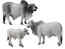 Collecta 88579 88580 88581 Brahman Cattle Bull Cow Calf Set - Group of 3